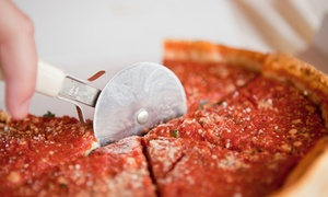 Manhattan Chicago Pizza: New York– and Chicago-Style Pizza at Manhattan Chicago Pizza (Up to 40% Off). Three Options Available.