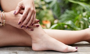 Julie's Nail Room: $39 for a Basic Manicure, Hot-Stone Pedicure, and Complimentary Wine at Julie's Nail Room ($65 Value)