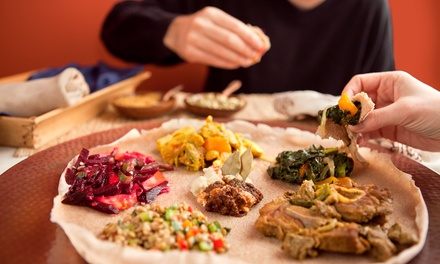 Ethiopian Dinner Cuisine at Queen of Sheba (Up to 43% Off).