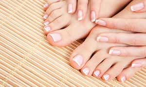 Kim's Beauty Salon: One or Two Deluxe Mani-Pedis at Anna's Beauty Salon (Up to 37% Off)