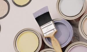 Pinturas Yana: 2 capas de pintura plástica o temple de paredes y techos en 50, 75, 100 o 150 m² de suelo desde 134€ con Pinturas Yana