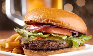 Bull's Eye Bar & Restaurant: Burgers, Sandwiches, and Barbecue at Bull's Eye Bar & Restaurant (Up to 50% Off). Three Options Available.