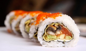 Bambooda-Roda Al Bustan: All-You-Can-Eat Sushi and Thai Buffet with Soft Drinks or House Beverages at Bambooda, Roda Al Bustan (Up to 55% Off)