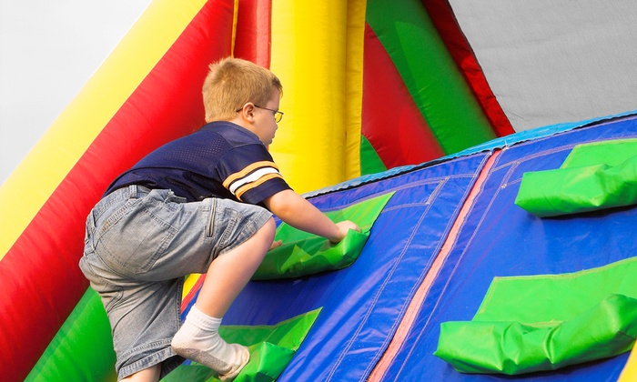 Pump It Up - Goose Island: 5, 10, or 20 Open Jumps or Classic Weekday Birthday Party Package for 25 at Pump It Up (Up to 48% Off)