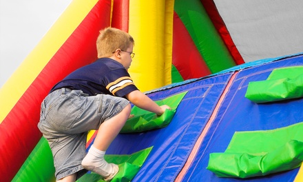 Three or Five Groupons, Each Good for One Open-Bounce Visit at Hop N Happy (Up to 49% Off)