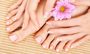Kathie at Huntridge Hair Care Center : One or Three Mani-Pedis from Kathie at Huntridge Hair Care Center (Up to 53% Off)