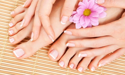 Mani-Pedi with Optional Shellac Polish on the Hands at Nailqueen Sabine (Up to 52% Off)