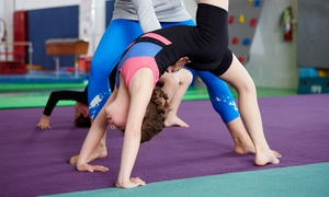 Spirals Cheer Company: Month of Tumbling Classes for One or Two Kids at Spirals Cheer (Up to 55% Off)