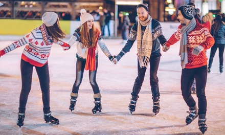 Ice Skating with Skate Rentals and Beverage at San Mateo on Ice (Up to 40% Off)