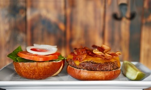 The Lawrenceburger: $11 for Two Groupons, Each Good for $10 Worth of Burgers and Sides at The Lawrenceburger ($20 Value)