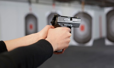 Range Package for One or Two at Pine Ridge Indoor Shooting Range (Up to 52% Off) c7ed7077-aed7-406e-a1fa-1bae119bc58d