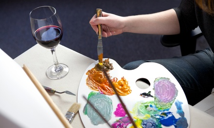 Wine and Paint Night or Wine and Water Class for One or Two at Gallery 415/Unicorn Theatre (Up to 49% Off)