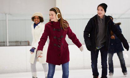 image for <strong><strong>Ice</strong> Skating</strong> and Skate Rentals for Two or Fourat Palisades Center <strong>Ice</strong> Rink (Up to 41% Off)