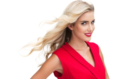 Haircut and Style with Choice of Partial or Full Highlights or Color Retouch at Fusion Salon (Up to 57% Off)