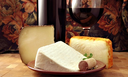 Wine, Cheese, Chocolate, and Souvenir Glasses for Two at The Saratoga Winery & Tasting Room (Up to 54% Off)