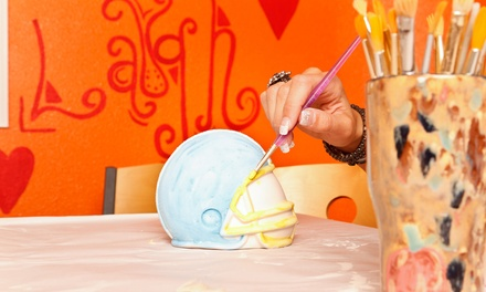 BYOB Pottery-Painting Session for Two or Four at Create Me Pottery Painting Studio (Up to 42% Off)