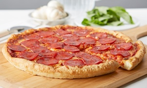 Hometown Pizza & Video: Pizza and Wings from Hometown Pizza & Video (Up to 44% Off). Three Options Available.