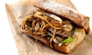 Cioffi's Boardwalk: Three or Five Groupons, Each Good for $10 Worth of Cheesesteaks and Hot Dogs at Cioffi's Boardwalk (40% Off)