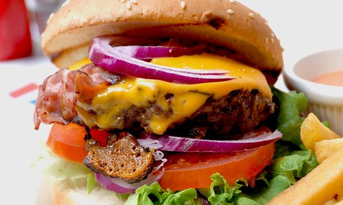 Corner Burger - Park Slope: Burger Meal for Two or Four at Corner Burger (Up to 42% Off)