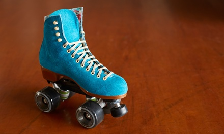 Roller Rink Package with Skate Rental and Indoor Ride Tickets for 2 or 4 at Rolling Thunder Skating Center (41% Off)