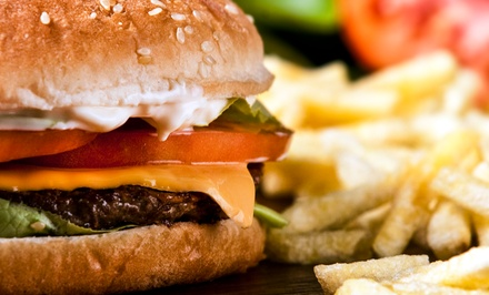 $18 for Three Groupons, Each Good for $10 Worth of Burgers and American Food at Burger Bank ($30 Value)