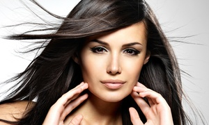 Alpha Beauty Salon: Blowouts, Haircuts, and Highlights at Alpha Beauty Salon (Up to 54% Off). Three Options Available.