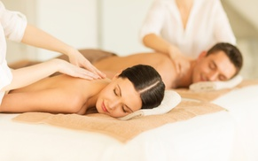 Moksha Spa and Wellness Center: $159 for a Couples Spa Package with Massage and Champagne at Moksha Spa and Wellness Center ($350 Value)