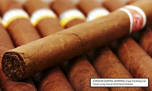 John Rolfe Tobacco Company: Cigars and Glasses of Wine for Two or Four at John Rolfe Tobacco Company (Up to 44% Off)
