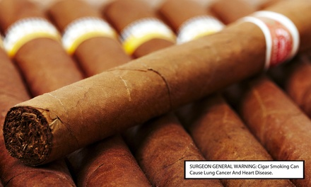 Cigars and Glasses of Wine for Two or Four at John Rolfe Tobacco Company (Up to 44% Off)