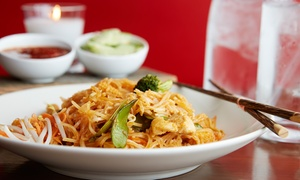 Royal House Thai Cuisine: Bottle of Wine and Two Appetizers or $13 for $30 Worth of Thai Food for Two or More at Royal House Thai Cuisine