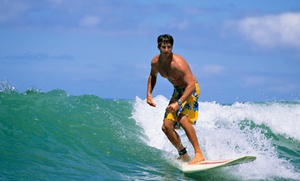 MiraCosta Surf Lessons and Board Rentals: One or Two Hours of Surfing Lessons for One or Two at MiraCosta Surf Lessons and Board Rentals (Up to 52% Off)
