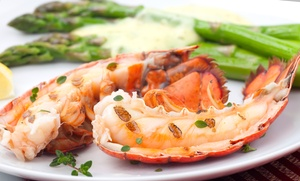 Coastal Bait Seafood Multi Cuisine Restaurant: Four-Course Valentine's Day Meal with Grape Beverage for Two at Coastal Bait Seafood Multi Cuisine Restaurant (50% Off)