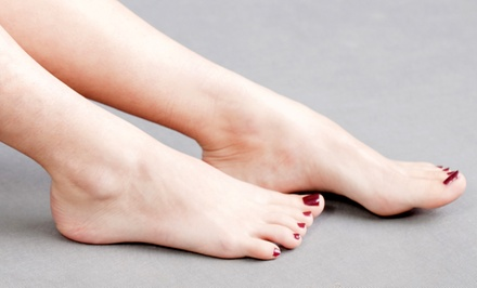 Shellac Pedicure Packages at Nails By Cecily (Up to 61% Off). Three Options Available.