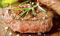 Exklusives 3-Gänge-Menü mit 250 g Steak, Salat und Eis mit heißen Kirschen für 2 Personen bei Steakhammer (42% sparen*)