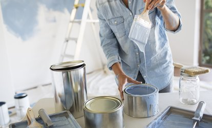 image for Prep Work and Two Coats of Paint for Two or Four Rooms from First Class Maids (Up to 79% Off)
