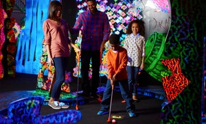 Pirate Shark: Mini Glow Golf, Jumping Slide Bounce Passes, or Both at Pirate Shark  (Up to 48% Off)