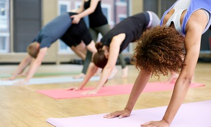 Breathe Deep While You Stretch During Two 60-Minute Vinyasa <strong>Yoga</strong> Classes at <strong>Yoga</strong> Pitt Inc