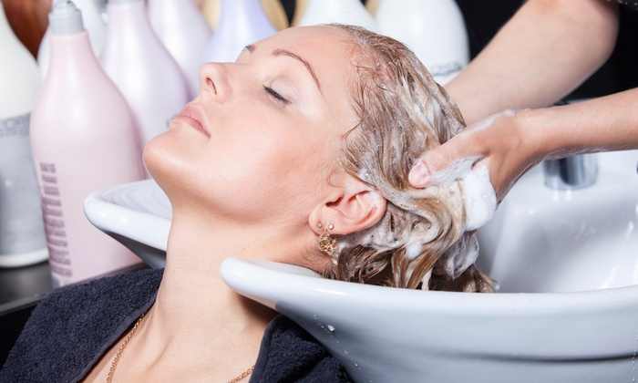 Sasha at Saloon Salon - San Clemente: $32 for Haircut with Deep-Conditioning Treatment from Sasha at Saloon Salon ($65 Value)