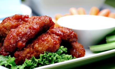 Pub Food and Drinks at Bathtub Billy's Restaurant and Sports Bar (Up to 50% Off). Three Options Available.