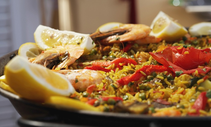 Port-o Lounge - Historic Downtown: Paella Meal for Two or Four at Port-o Lounge (Up to 52% Off)