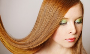 Modern Edge Hair Studio & Lash Lounge: One or Two Brazilian Blowouts with Color or Highlights at Modern Edge Hair Studio & Lash Lounge (Up to 50% Off)