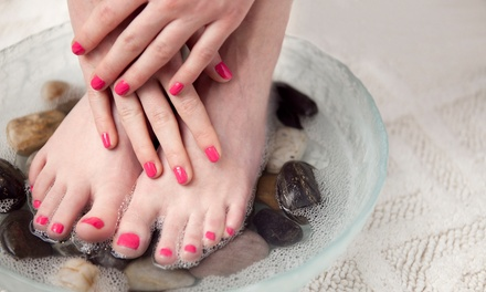 One or Three Basic or Shellac Mani-Pedis at Privé Nail Studio (Up to 55% Off)