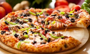 Top Tomato Pizza Cafe: Pizza, Calzones, Pasta, and Sandwiches for at Top Tomato Pizza Cafe (40% Off). Two Options Available.