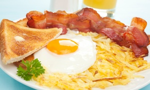 Allen's Grill: Breakfast Food and Drinks at Allen's Grill (40% Off). Three Options Available.