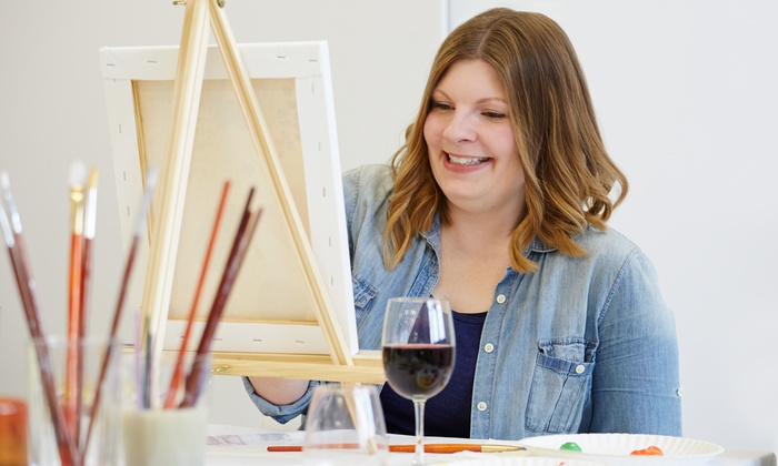 Merlot's Masterpiece - Merlot's Art: Simply Paint Class with Wine for One or Two at Merlot's Masterpiece (Up to 35% Off)