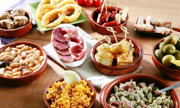 spanisches catering men f r zehn tapas bar und restaurant los amigos groupon. Black Bedroom Furniture Sets. Home Design Ideas