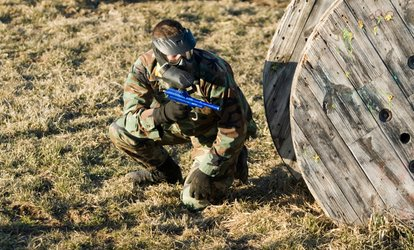 image for Paintball Experience with Lunch and 100 Paintballs Each for Up to Ten at Allout Paintball (Up to 94% Off)