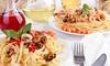 Menu italien en 3 services