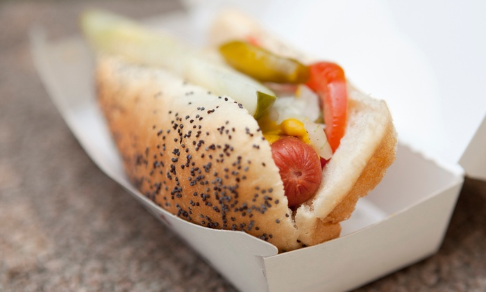 Photo's Hotdogs Mt. Prospect - Mount Prospect: Hot Dogs, Burgers, and American Food at Photo's Hotdogs in Mount Prospect (50% Off). Two Options Available.
