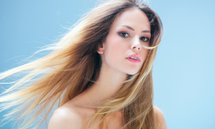 Heat Lounge - Perimeter Center: Hairstyling Packages at Heat Lounge (Up to 58% Off). Three Options Available.
